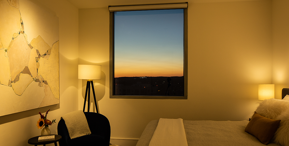 Bedroom at the Downtown Austin Hideaway