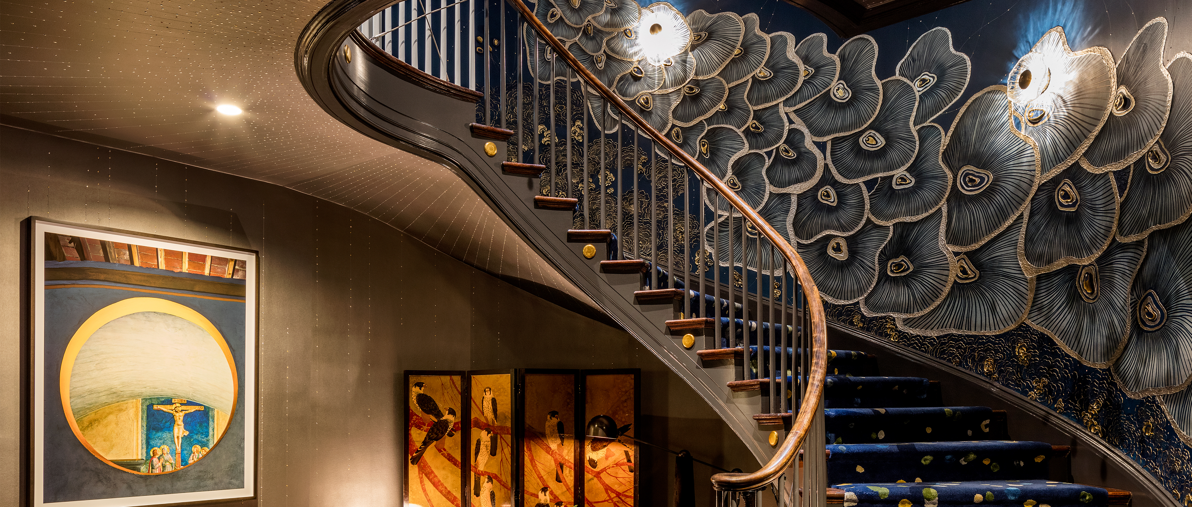 Richard Rabel's design for a stair well in the Kips Bay Decorator Show House
