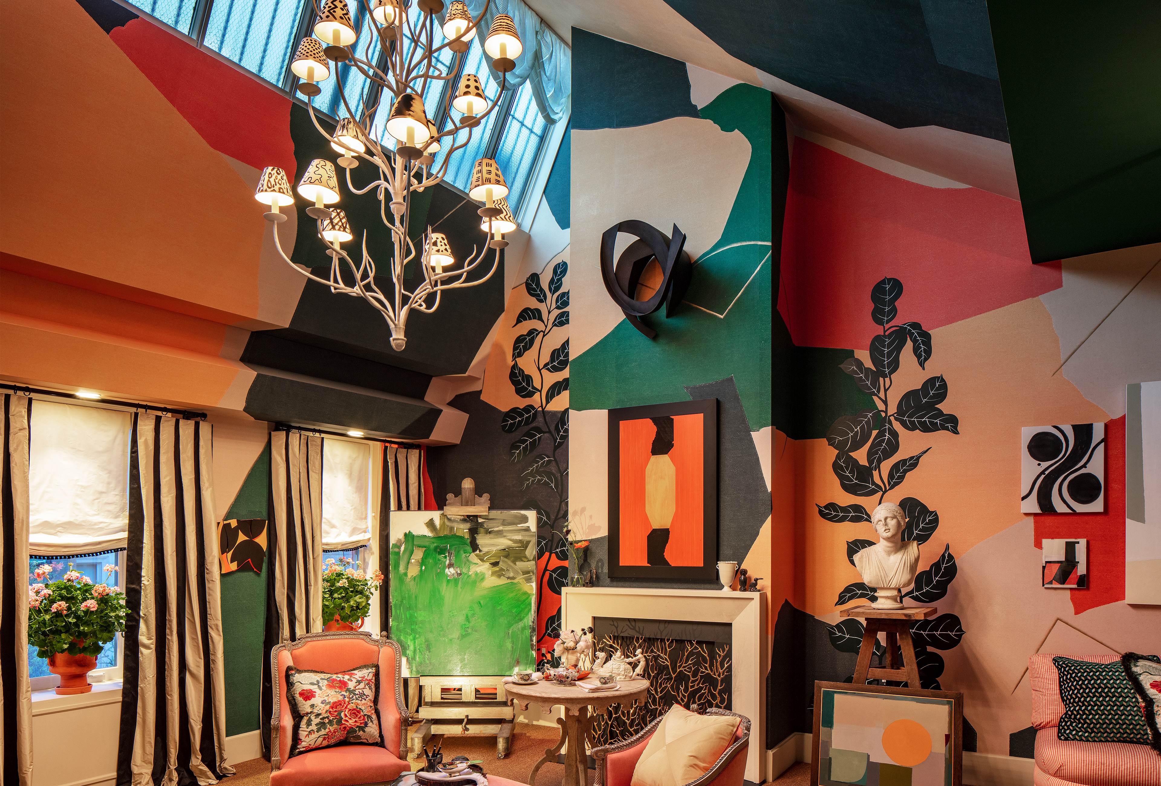 Young Huh's design for Kips Bay Decorator Show House Living Room