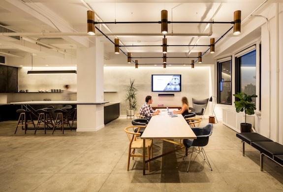 NY showroom 1 long table