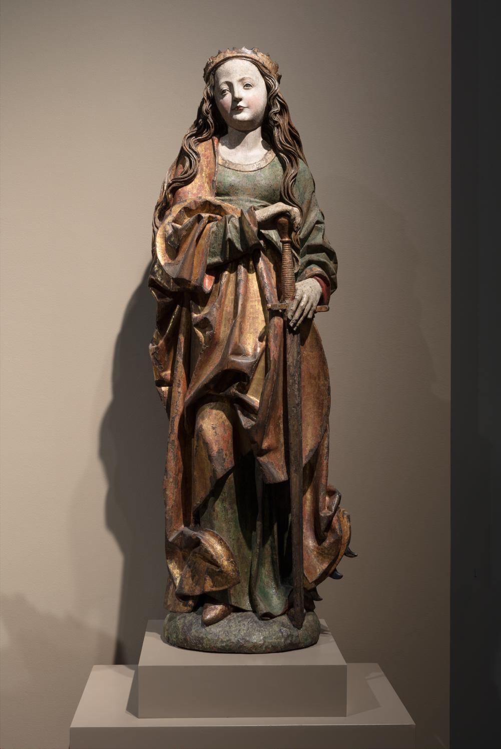 St Catherine sculpture at 2850K + 2700K, 0% vibrancy