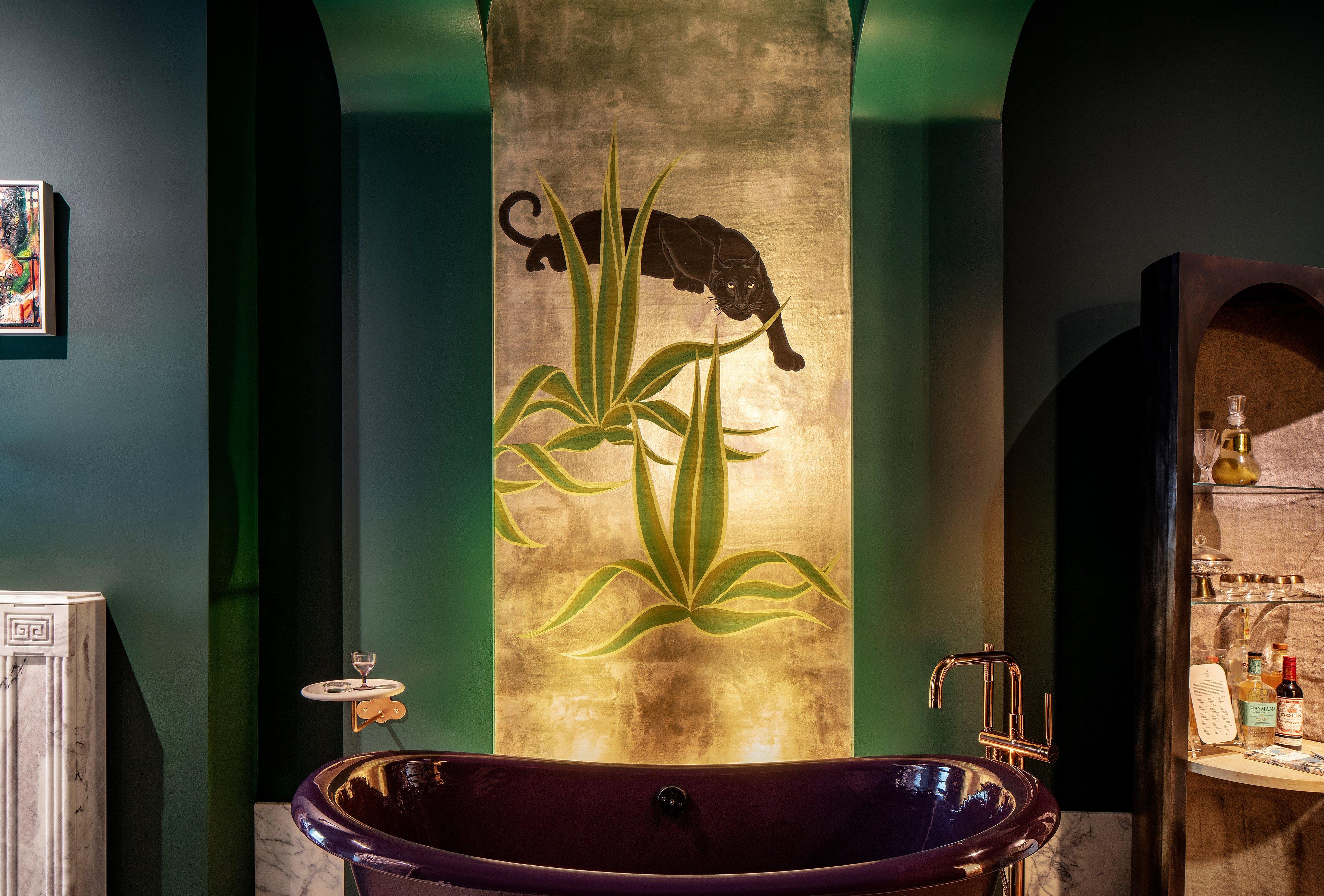 StudioDB's modern design for Kips Bay Decorator Show House bathroom