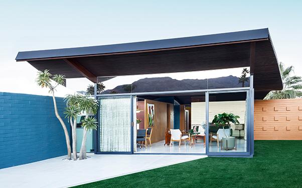 Side shot of Palm Desert's Wave House