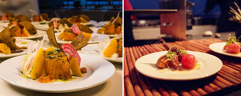 Exquisite dishes at the C-CAP Benefit