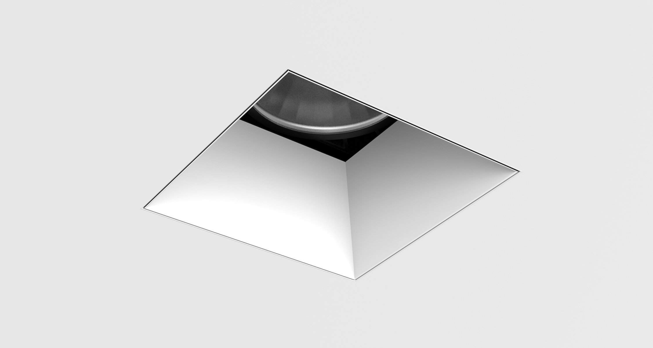 D3 Square Deep Bevel Downlight Mud-In