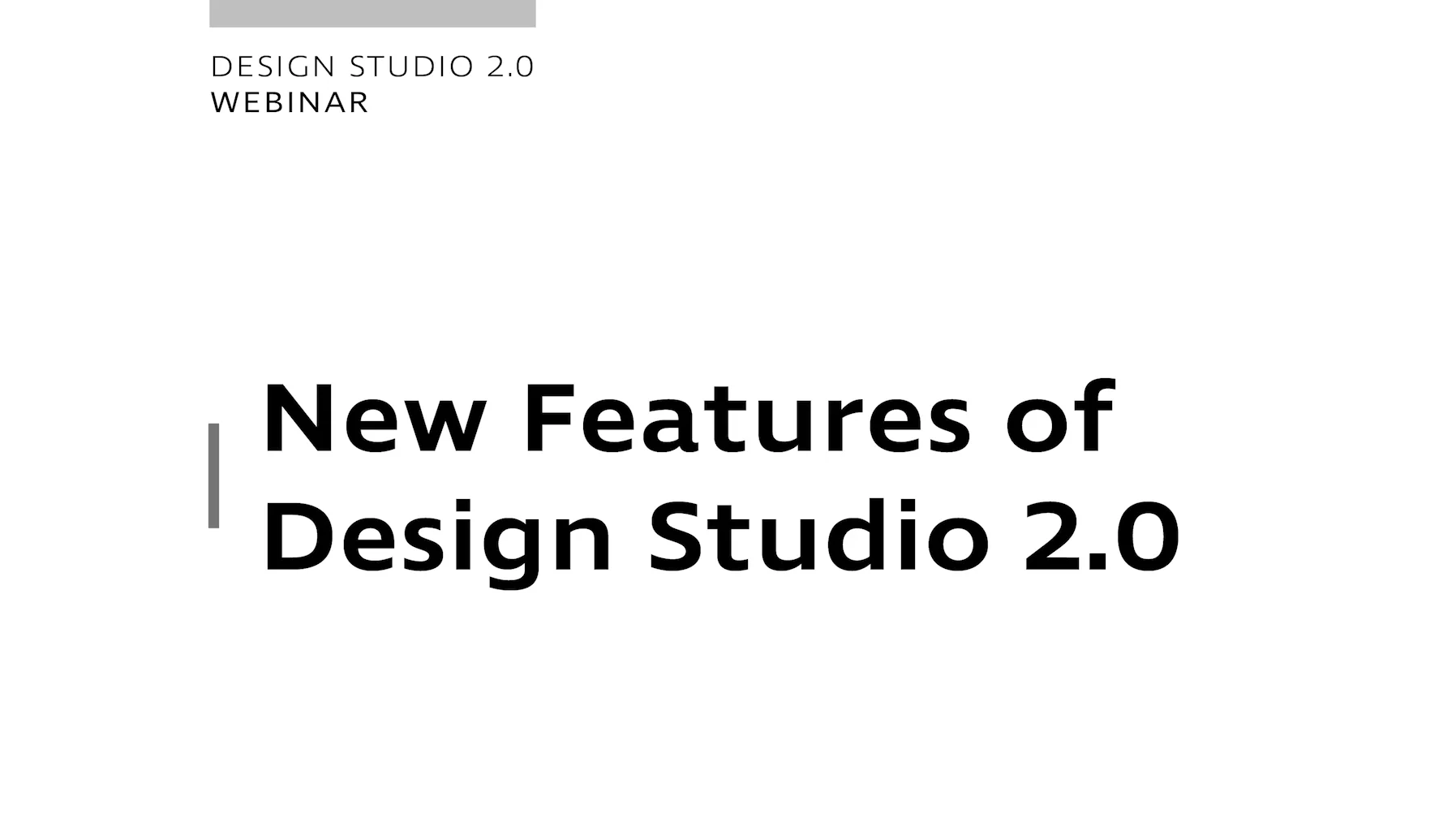 Design Studio 2.0 - New Features