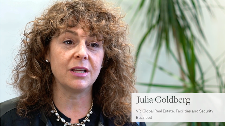 Julia Goldberg, VP Global Real Estate, Facilities and Security of Buzzfeed
